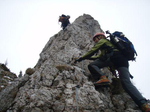 Klettersteig Hochlantsch : Hochlantsch klettersteig april
